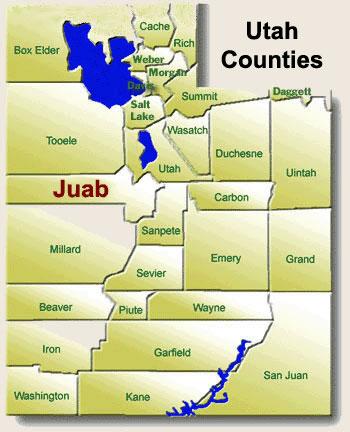 Juab County Map